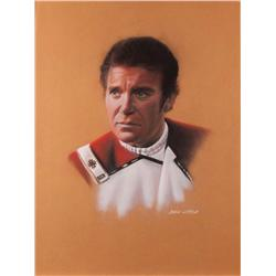 Doug Little orig pstl artwrks (3) of Spock, Kirk, & Kirstie Alley frm The Wrath of Khan