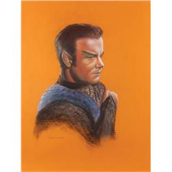 "Doug Little orig pstl artwrks (2) of McCoy & Kirk as Romulan frm ""The Enterprise Incident"" epd"