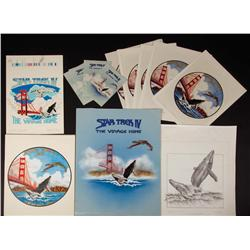 Collection of (4) June Huxtable original artworks for Lincoln Enterprises merchandising