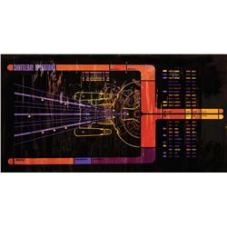 Shuttlebay operations gel panel from Star Trek: The Next Generation