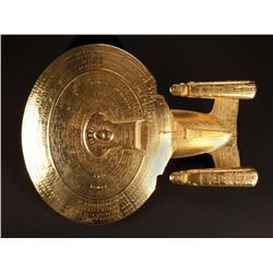 Set of six gold plated display models from Star Trek: Nemesis
