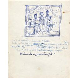 """John Lennon's lyrics for """"Lucy in the Sky w/ Diamonds"""" frm Sgt. Pepper's Lonely Hearts Club Band"""