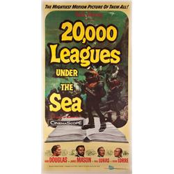 20,000 Leagues Under the Sea three-sheet poster