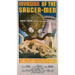 Invasion of the Saucer Men three-sheet poster