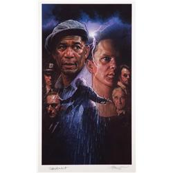 The Shawshank Redemption poster artwork, signed by Darabont and Struzan