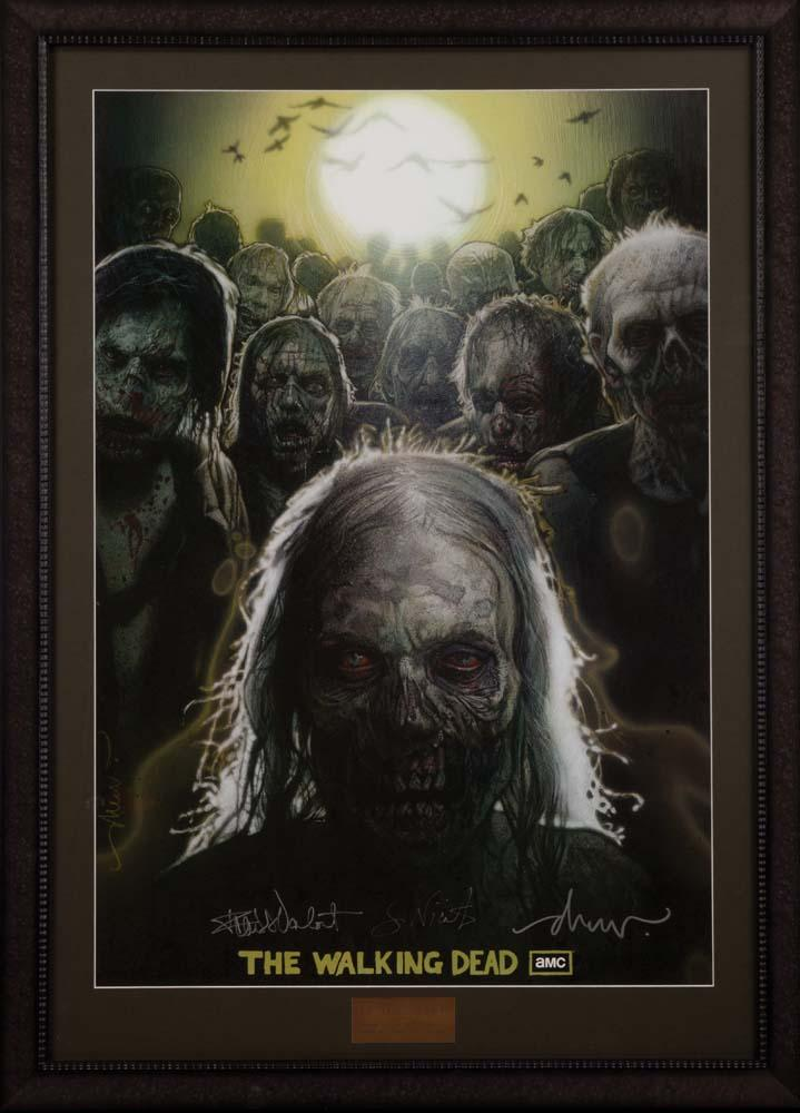 The Walking Dead One Sheet Poster Signed By Frank Darabont Drew