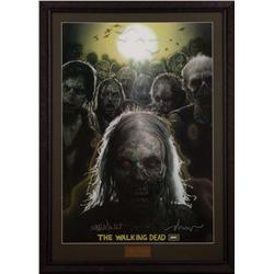 The Walking Dead one-sheet poster signed by Frank Darabont, Drew Struzan and Greg Nicotero