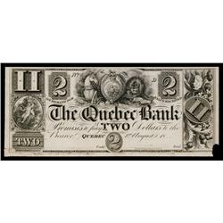 Quebec Bank, ca.1830's Obsolete Proof.