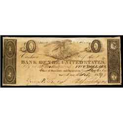 Bank of the United States, 1829 Issue at Mobile.