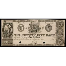 Jewett City Bank ca.1830's Obsolete Proof.