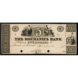 Mechanics Bank ca.1830's Obsolete Proof.