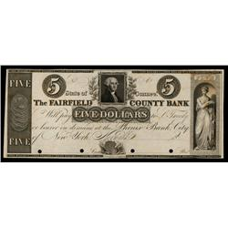 Fairfield County Bank, Coin Vignetted Note ca.1830's Obsolete Proof.