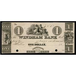 Windham Bank ca.1830's Obsolete Proof.