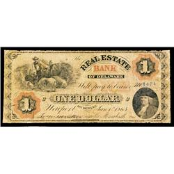 Real Estate Bank of Delaware Obsolete Banknote.