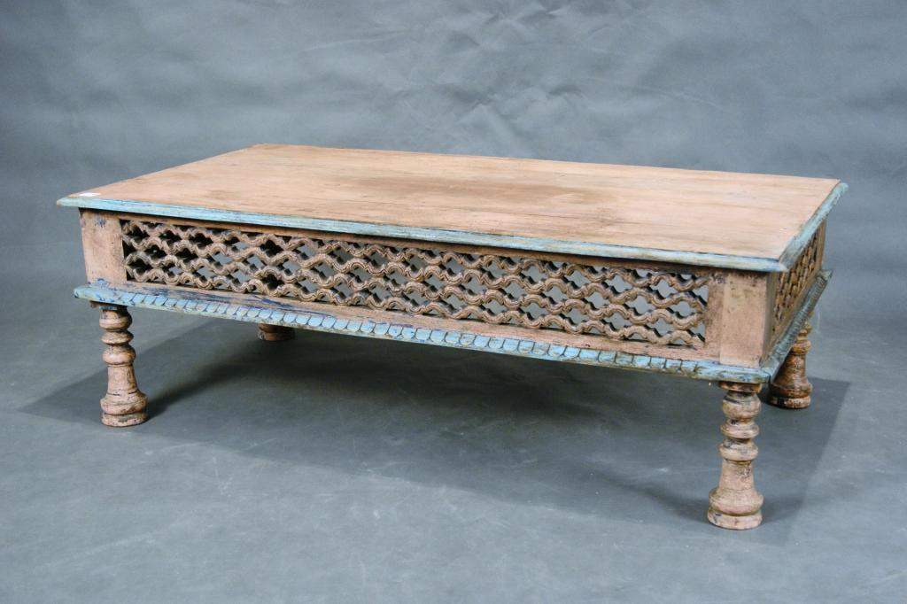 Charmant Mexican Carved Coffee Table With Rustic Paint. Loading Zoom