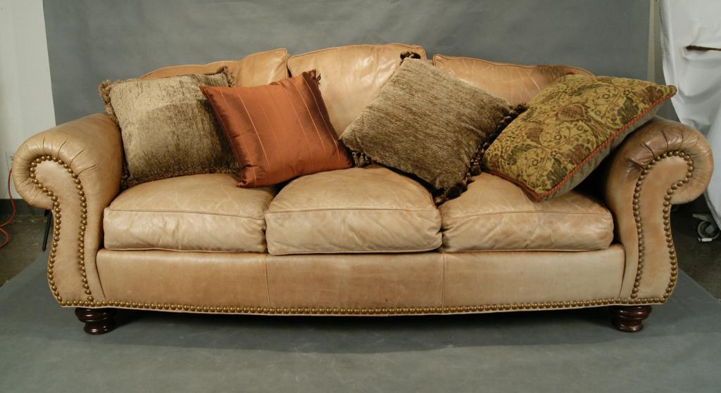 Gentil Thomasville Leather Sofa   Tan. Loading Zoom