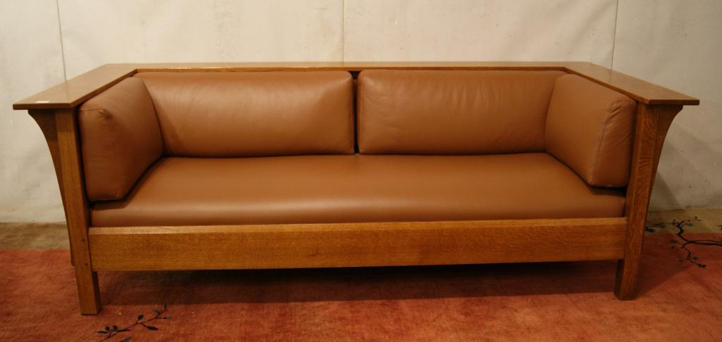Mission Stickley Leather Sofa. Loading Zoom
