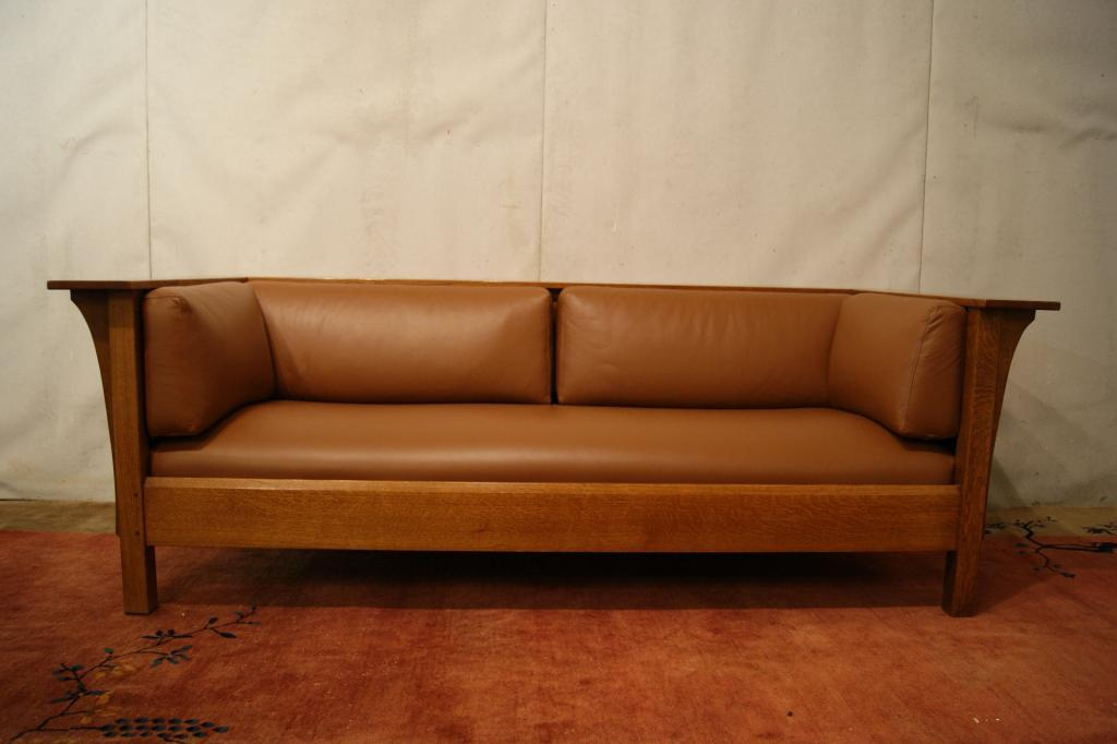 Mission Stickley Leather Sofa