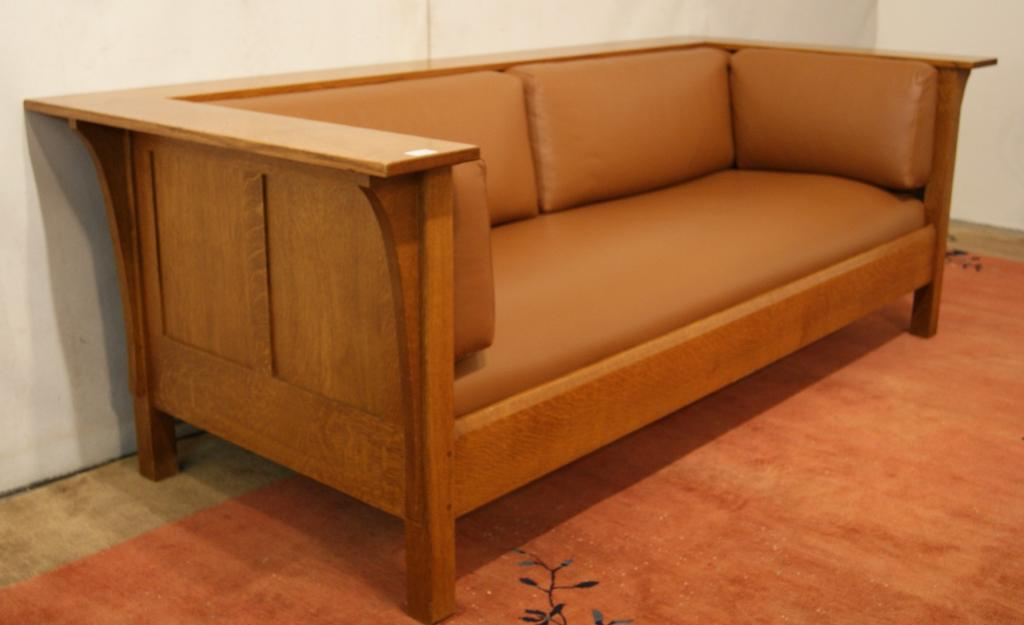 Image 5 Mission Stickley Leather Sofa
