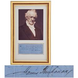 James Buchanan Holograph Check Signed