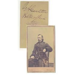 George Custer CDV Signed