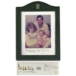 Princess Diana & Prince Charles Signed Photo