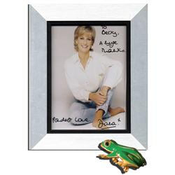 Princess Diana Signed Photo & Brooch