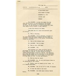 JFK 1963 Texas Itinerary