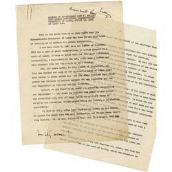 JFK Speech With Handwritten Notes