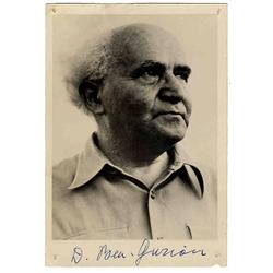 David Ben-Gurion Signed Photo