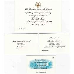 Jimmy Carter White House Invitation