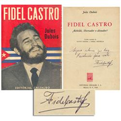 Fidel Castro Signed Biography 1959