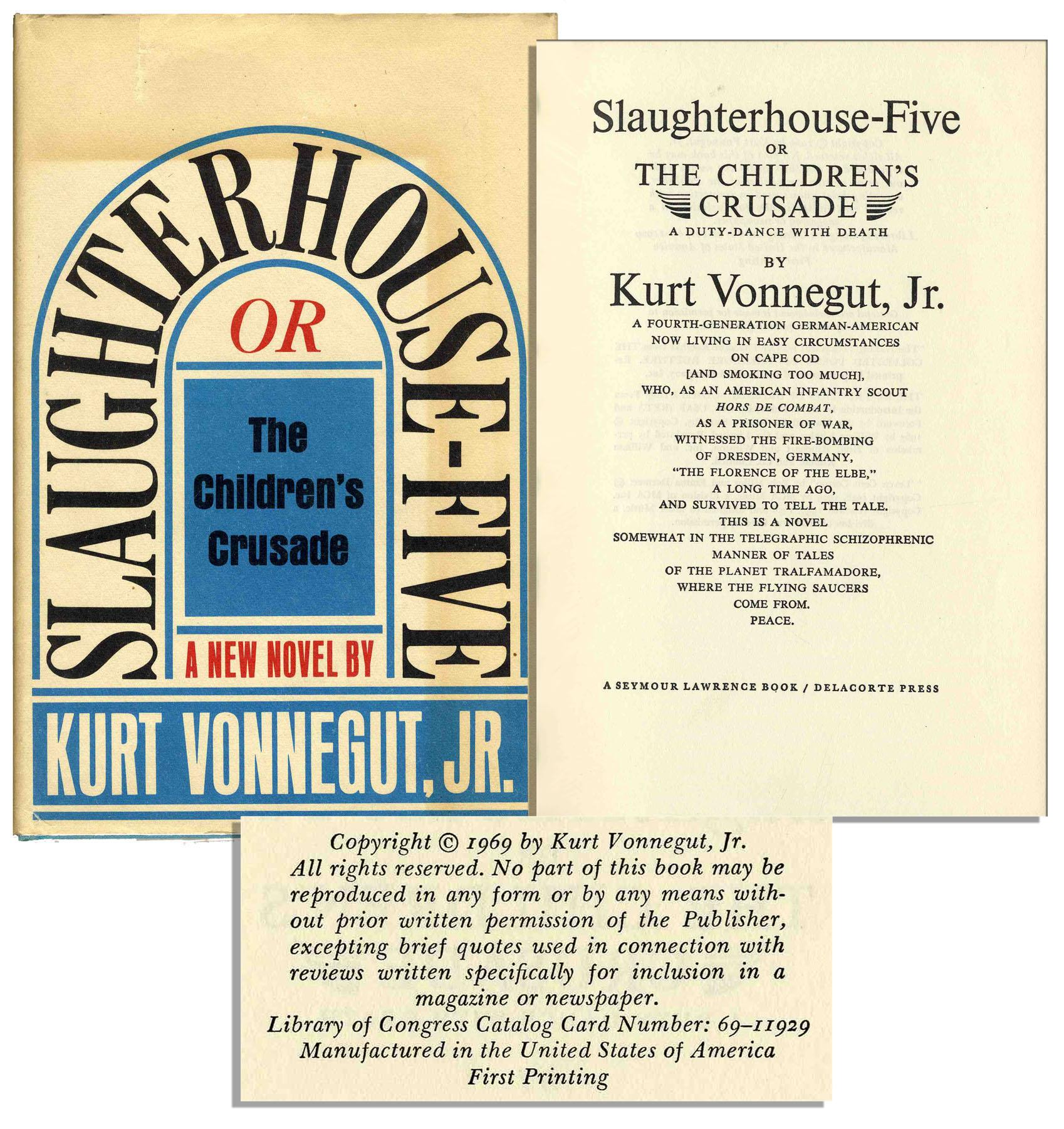 an overview of the slaughterhouse five in 1969 by vonnegut Vonnegut's words: a reading kurt vonnegut, the satirical author of many novels and short stories, has died at age 84 many of his novels were best sellers and include the darkly humorous works cat's cradle and slaughterhouse-five.