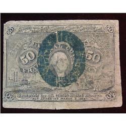 7. Series of 1863 Fifty Cent Fractional Currency Note. G.