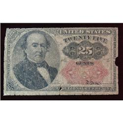 8. Series of 1874 Twenty-Five Cent Fractional Currency Note. G.