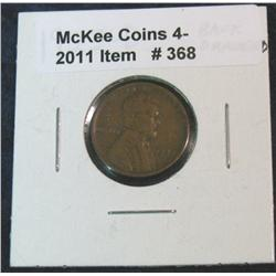 368. 1922 D Lincoln Cent. Reverse rim nick, and raised copper bump.