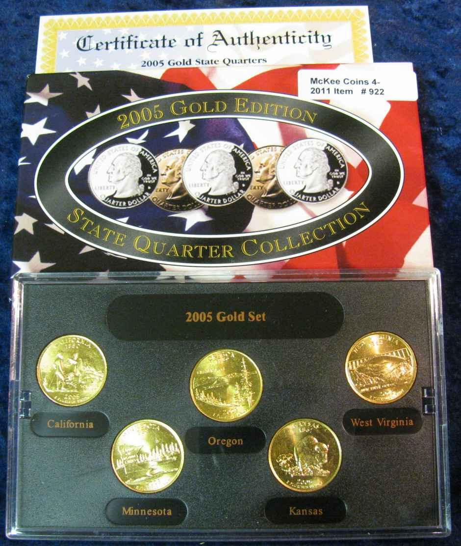 2007 gold edition state quarter collection.