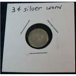 1071. US 3-Cent Silver Low Grade No Date.