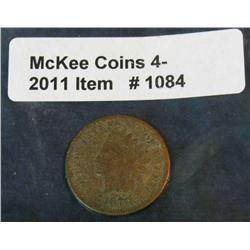 1084. 1870 Indian Head Cent. AG-Pitted Surfaces.