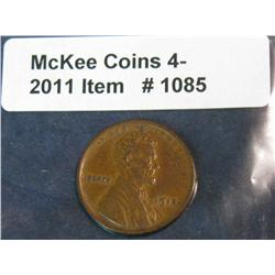 1085. 1915P Lincoln Cent. EF.