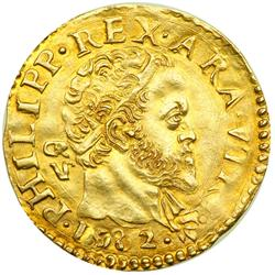 Italian States - Naples. Scudo d'oro, 1582. NGC AU55