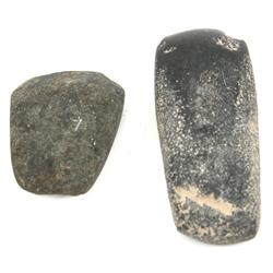 FLORIDA SUWANNEE RIVER GREEN STONE CELT LOT OF 2