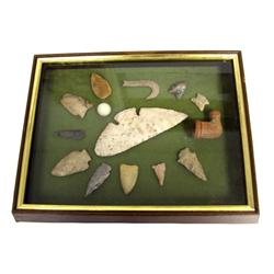 SE US COLLECTOR FRAMED QUALITY ARROWHEAD LOT
