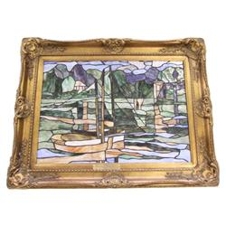 CLAUDE MONET MASTERPIECE RECREATION STAINED GLASS