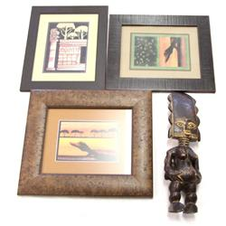 AFRICAN PRINTS BY J RANDY SMITH & FERTILITY STATUE