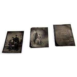 3 1860'S TO 1870'S TINTYPE PHOTOGRAPHS