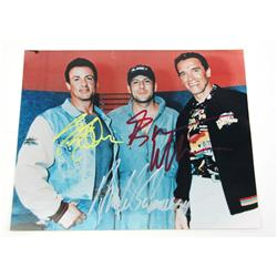 3 ACTION MOVIE CELEBRITY AUTOGRAPHS WITH COA