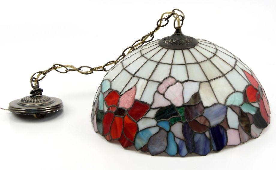 stained glass style hanging amora dp ceiling fixture tiffany lighting lamp