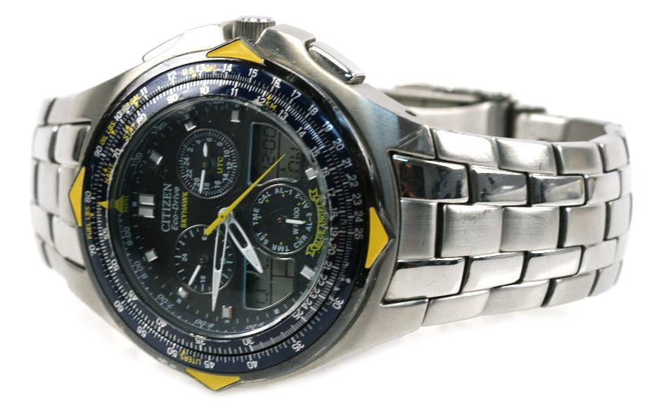 steel eco angels skyhawk silver watches s stainless drive dress product citizen men blue