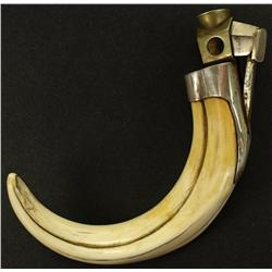 Antique boars tusk ivory cigar cutter